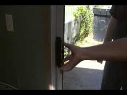 Lock Sliding Patio Door How To Open A Locked Sliding Glass Door Youtube