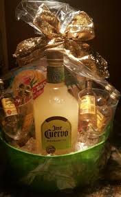 liquor gift baskets liquor gift basket fundraiser ideas i used small jose cuervo