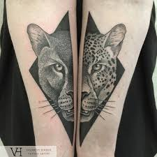neo traditional tattoos of people and animals created using