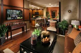 beautiful ideas for painting a family room with orange paint