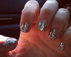 shellac glitter nail polish lustyfashion
