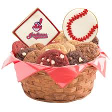 Baking Gift Basket Mlb Cleveland Indians Cookie Basket Cookies By Design