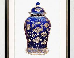 what are ginger jars ginger jar print blue white chinese pottery wall art