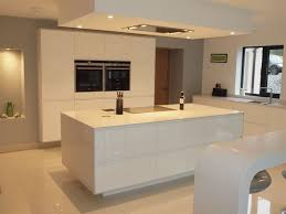 kitchen island worktop atlantis kitchens project cartmel handleless gloss white