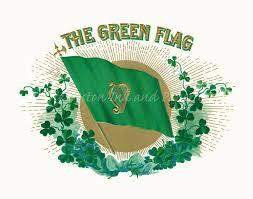 green harp flag irish catholic confederation vintage ireland