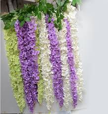 wedding arch garland 2017 artificial wisteria vine rattan wedding arches silk flower