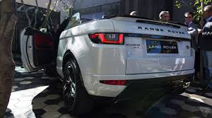 land rover car the evoque convertible is range rover u0027s strangest car but it u0027s