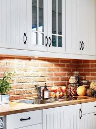backsplash for kitchen with white cabinet best 25 brick backsplash white cabinets ideas on