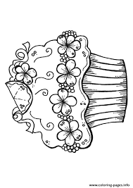 decorative cupcake coloring pages printable