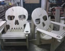 Lawn Chair High Rehab Skull Lawn Chair Adirondack Style Skull Chair Patio Chair