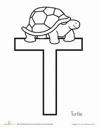 t is for turtle worksheet education com