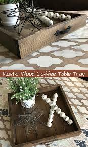 ottoman trays home decor rustic wood coffee table tray home decor ottoman tray rustic