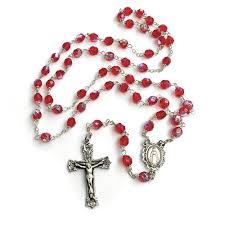 birthstone rosary bohemian glass birthstone rosary ruby july the catholic company