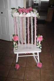 baby shower chair decorations decorated rocking chair for baby shower search baby