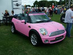 pink cars pink mini cooper convertible here is a shot of the inside u2026 flickr