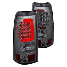 2005 gmc sierra tail lights lumen gmc sierra 2003 2005 chrome smoke fiber optic led tail lights