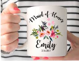 personalized mugs for wedding of honor mug custom wedding mug of honor gift of