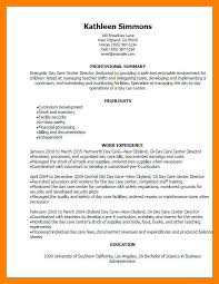 child care resume sample stunning child care director job