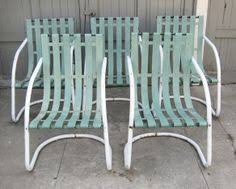 retro metal slat lawn furniture bouncers vintage metal furniture