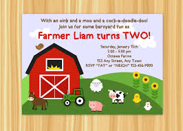 birthday invites wonderful farm themed birthday invitations ideas