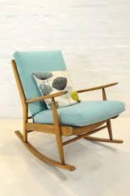 mid century modern scandart teak rocking chair retro vintage