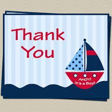 Baby Shower Invitations And Thank You Cards Nautical Thank You Cards Baby Shower Ahoy Its A Boy