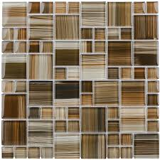 Wall Tiles Design Shop Elida Ceramica Dark Straw Brush Strokes Cubes Mosaic Glass