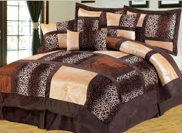 bedroom decor ideas and designs top ten animal pattern bedding brown micro fur patchwork leopard luxury animal print bed in a bag set