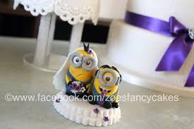 Minion Cake Decorations Minion Wedding Cake Toppers By Zoesfancycakes On Deviantart