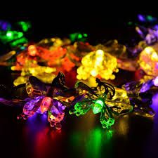 multi colored solar garden lights new 40 leds waterproof colorful butterfly garland fairy solar