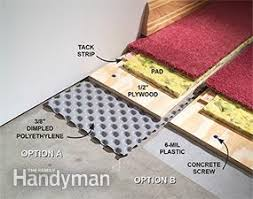 how to carpet a basement floor family handyman