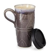 Travel Mug Stoneware Travel Mug Pottery Mug Uncommongoods