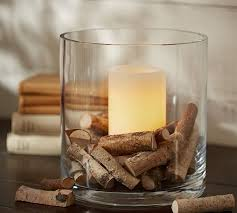 Brown Vase Fillers Birch Halves Vase Filler Pottery Barn