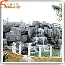 Artificial Garden Rocks Plastic Landscape Rocks Garden Design With Landscape Edging With