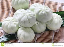 cuisines pau steam bun with pandan flavour stock photo image 86151782