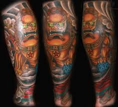 gold foo dogs foo dog tattoo images designs