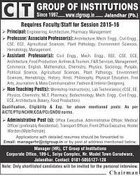 profile of hr manager ct group of institutions