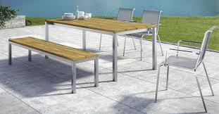 Teak And Stainless Steel Outdoor Furniture by Garden Bench Contemporary Teak Stainless Steel Modena