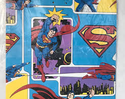 superman wrapping paper superman gift wrap etsy