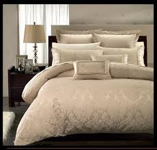 Jacquard Bed Set 9pc Luxury Beige Contemporary Floral Jacquard Design Comforter Set