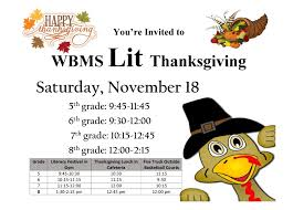 literacy festival and thanksgiving lunch whale branch mid