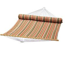 Hammock Overstock by Algoma 13 Ft Quilted Reversible Hammock In Orange Stripe With