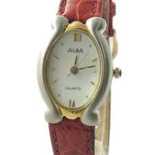 Jam Tangan Alba Emas alba atcy10 jam tangan wanita merah perak emas cek harga belanja