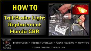 how to replace the tail brake light honda cbr youtube