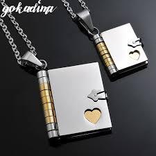 necklace gift case images Buy 2018 quot love letter quot book pendants couple jpg