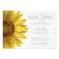 what do you put on a bridal shower registry sunflower bridal shower invitations sunflower bridal shower