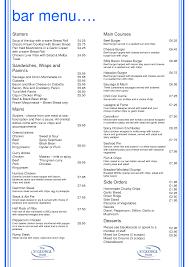 wedding drink menu template free drink menu template