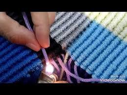 youtube cara membuat tas rajut dari tali kur cara membuat alas tas tali kur motif zigzag lop youtube