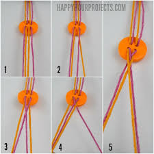 thread bracelet diy images Easy diy button friendship bracelets happy hour projects jpg
