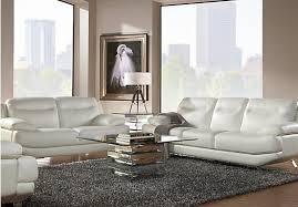 Rooms To Go Sofa Bed Shop For A Sofia Vergara Castilla White Leather 2 Pc Living Room